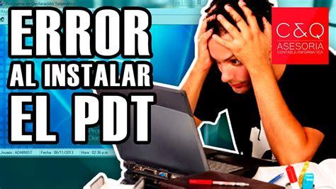 pdt modulo integrador youtube contatip error al instalar el pdt modulo integrador