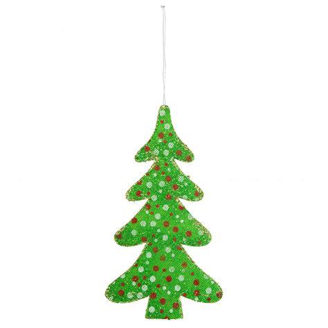 12 quot christmas tree ornament green polka dot 82595gn
