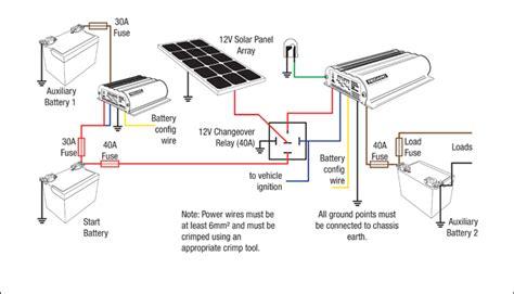 solar panel setup diagram bcdc1220 and bcdc1225 12v and solar setup redarc electronics