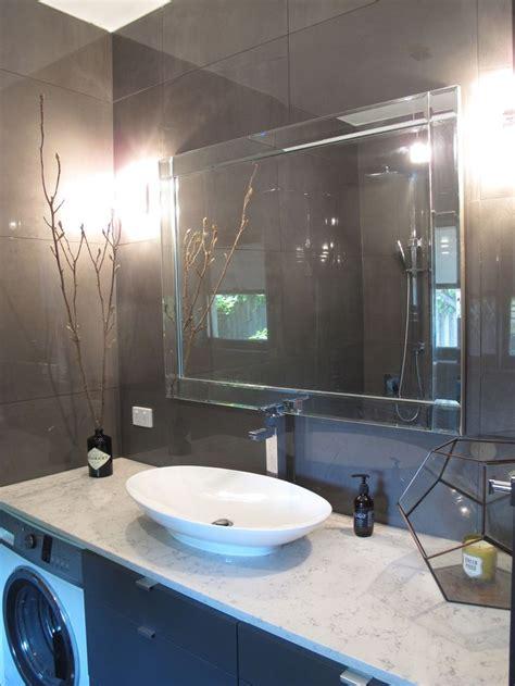 high ceiling bathroom high ceiling grey tiling bathroom glossed granite stone