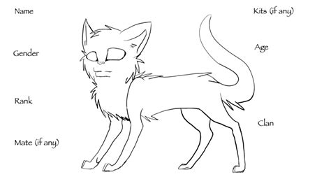 warrior cat template warrior cat creator template by duskmalfoy on deviantart