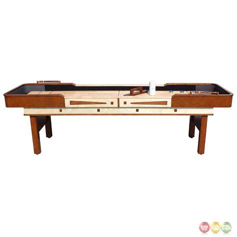 9 ft shuffleboard table merlot 9 ft shuffleboard table in walnut w
