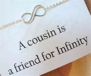 Infinity Cousin Silver Infinity Bracelet Cousin Gift Cousin Bracelet