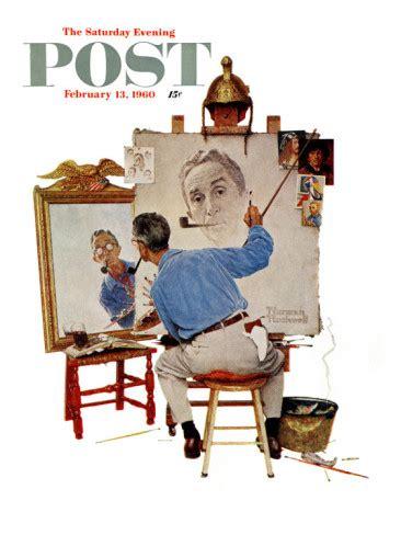 Lpost Or L Post by Histoire D Arts Rockwell Autoportrait 1960