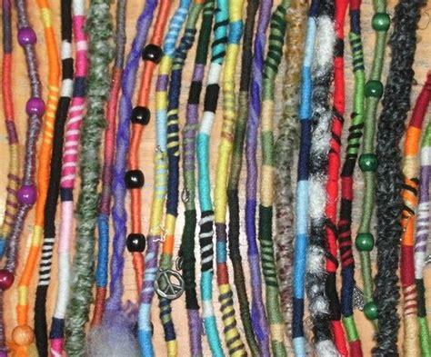 dreadlock wrapped around extensions for sale yarn falls hippie hair wraps braid dreadlock