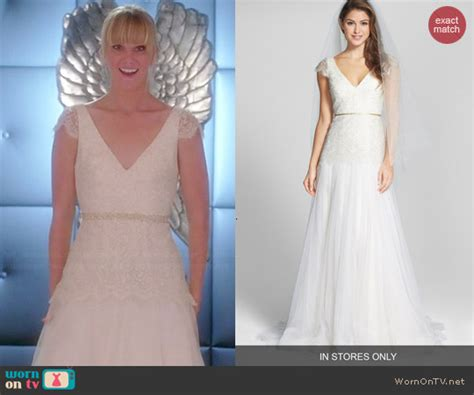 Dress Tile Jeanny wornontv brittany s wedding dress on glee