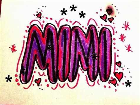 Mimi In Letters mimi in graffiti letters for birthday cards signs t
