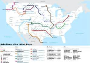 united states map with rivers on it check out this subway inspired map of america s rivers