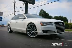 audi a8 custom wheels vossen cvt 22x et tire size r22