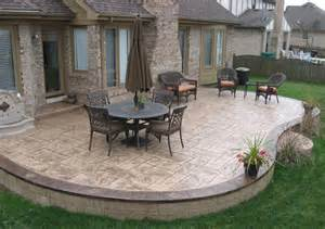 Cement Backyard Ideas Best 25 Colored Concrete Patio Ideas On Pinterest