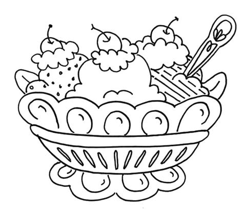 banana split coloring page coloring pages
