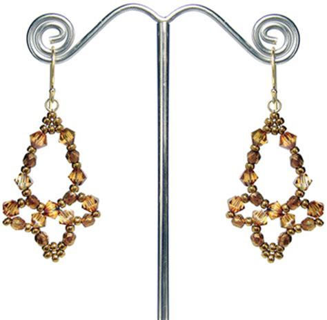 around the beading table chandelier earrings now a free