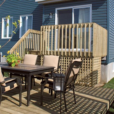 x step terrasse bfd rona products diy build a one level deck