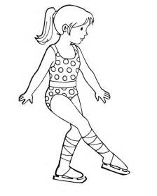 ice skate outline az coloring pages