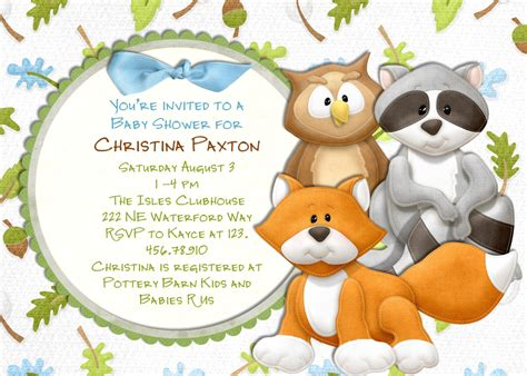 Woodland Animals Baby Shower by Woodland Animals Baby Shower Invitation Fox And By 3peasprints