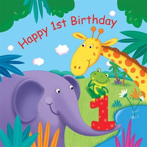 New Home Party Decorations by Jungle Buddies Quot Happy 1st Birthday Quot Luncheon Napkins