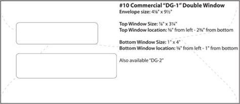 envelope templates commercial window envelope template