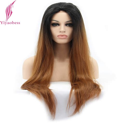 wig grips for women that have hair yiyaobess natural straight long black brown ombre wigs