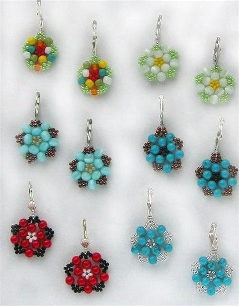how to make flower jewelry diy beautiful bead flower earrings fabdiy
