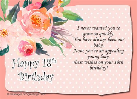 Happy 18th Birthday Wishes 18th Birthday Wishes Messages And Greetings