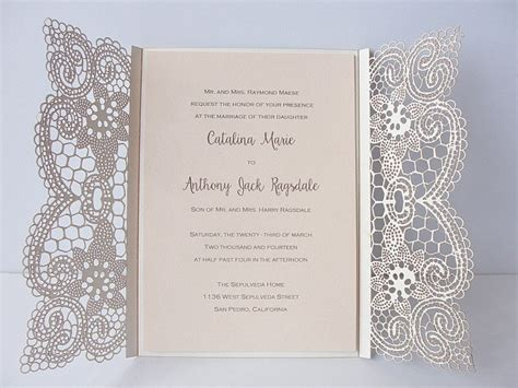 Wedding Invitations Lace by Lace Wedding Invites Lace Wedding Invitations
