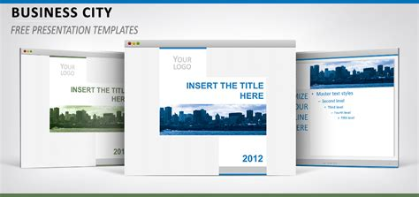 business city template for powerpoint and impress