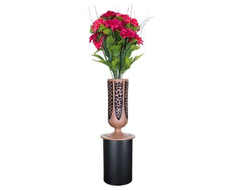 Metalcraft Vases by Memorial Vases Lawn Flush Ground Vases Crest U S