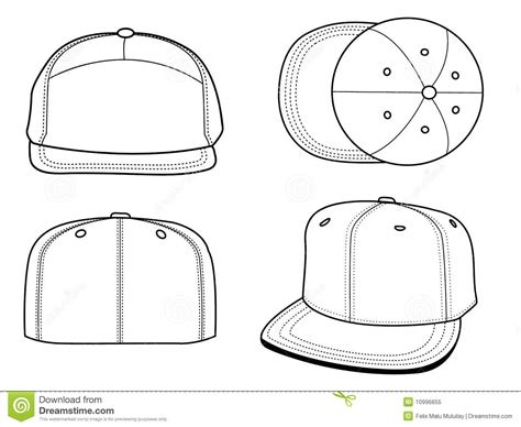 hats templates stock vector illustration of object cloth