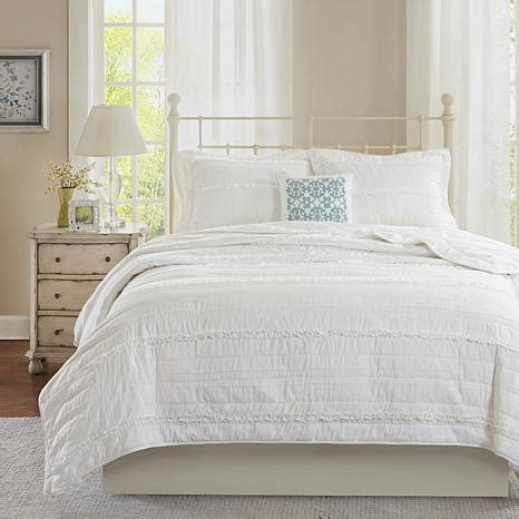 White Coverlet Set Park Celeste White 4 Coverlet Set
