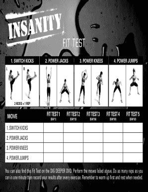Insanity Fit Test Worksheet Pdf