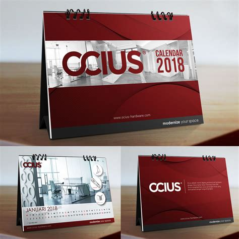 design kalender meja 2018 sribu desain kalender desain kalendar meja ocius 2018