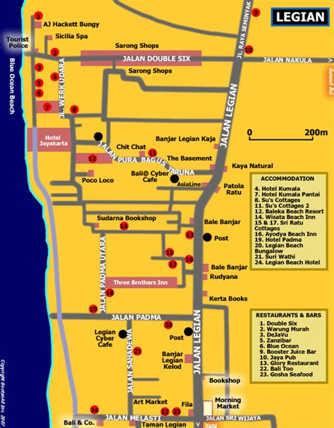 rabasta resort kuta map map of legian bali bali