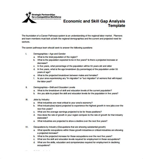 sle gap analysis 11 documents in pdf excel