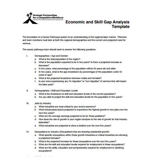 economic analysis template sle gap analysis 11 documents in pdf excel