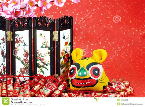 new year cloth decoration lunar new year decoration royalty free stock