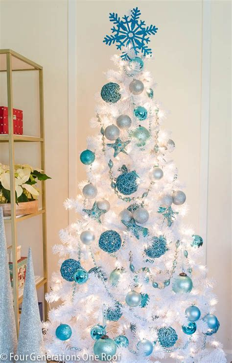 blue white christmas tree four generations under one