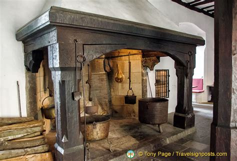 Tudor Home Interior marksburg great hall kitchen fireplace