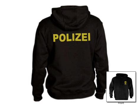 Polizei Hoodie polizei hoodie german clothes gear ebay