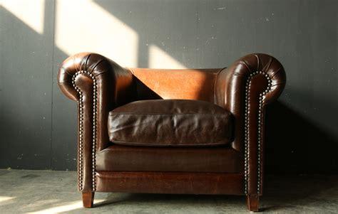leren fauteuil te koop retro vintage xl chesterfield dik leren fauteuil