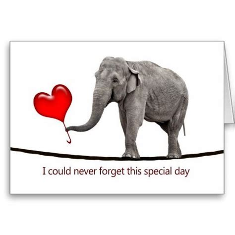 s card with tightrope walking elephant