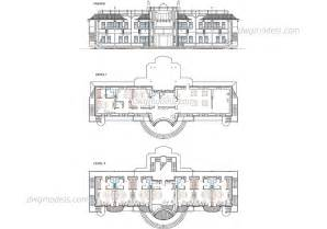 hotel floor plan dwg hotel plans and facade autocad drawings free dwg file