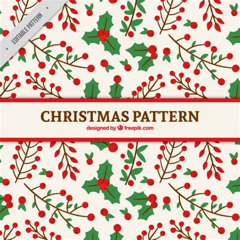 christmas pattern download christmas floral pattern vector free download