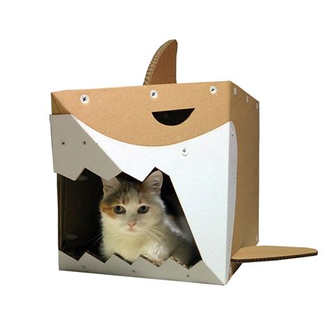 cardboard cat house shark cardboard cat house live on the edge and stay safe