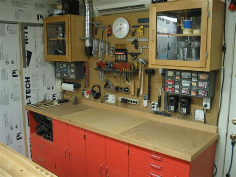 workshop tool layout north wall of garage workshop the a c unit on the wall