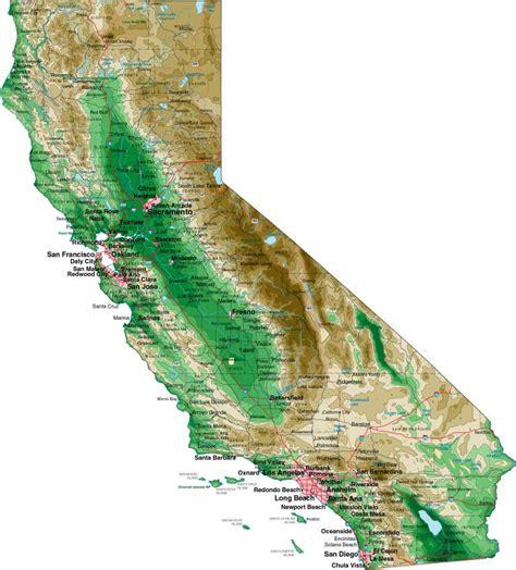 map de california usa mapas de california