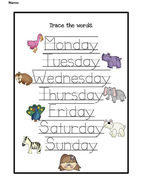 day activities for kindergarten days of the week kindergarten worksheets kelpies