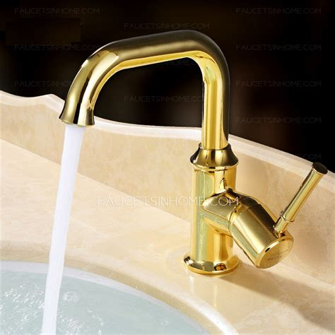 Retro Bathroom Sink Faucets by Shiny Polished Brass Retro Bathroom Faucets Golden