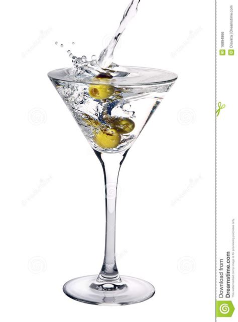 martini cocktail splash martini cocktail with olives and splash stock photo