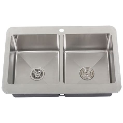 Kitchen Sinks Overmount Ticor Tr1800 Overmount Stainless Steel Bowl Kitchen Sink