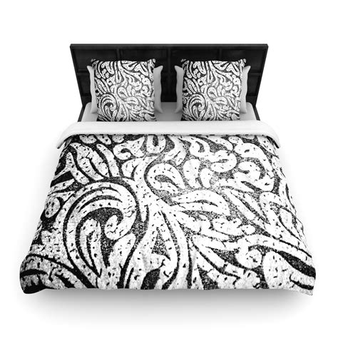 black and white paisley comforter caleb troy quot black and white paisley quot duvet woven twin